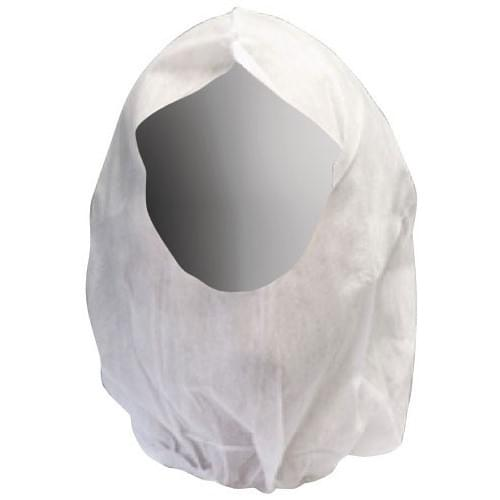White Economy Balaclava Disposable Hood Pack of 100