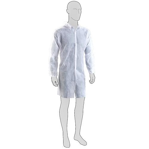 Coverall Coat Non Woven Disposable XL 50 Per Pack