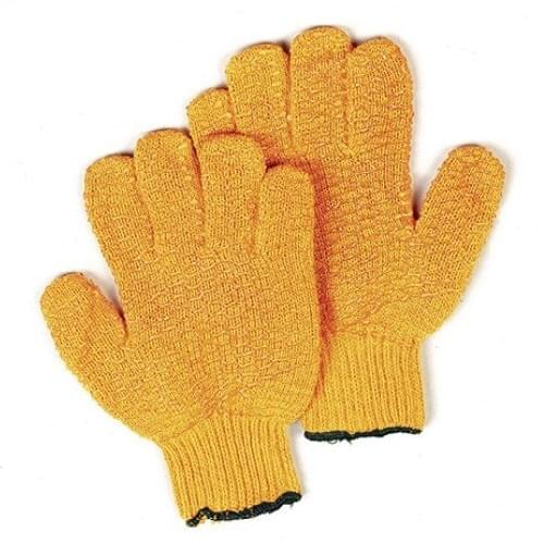 Orange Latex Palm Handling Gloves  Size 10