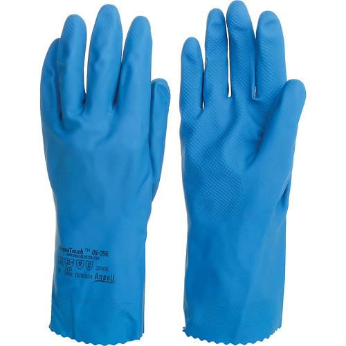 Ansell Blue Household Rubber Gloves (Medium) 12 Pack