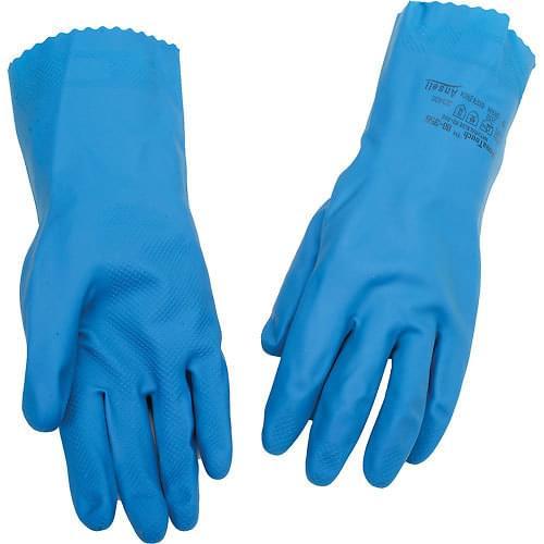Ansell Blue Household Rubber Gloves (Large) 12 Pack