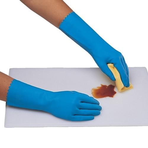 Ansell Blue Household Rubber Gloves (Small) 12 Pack
