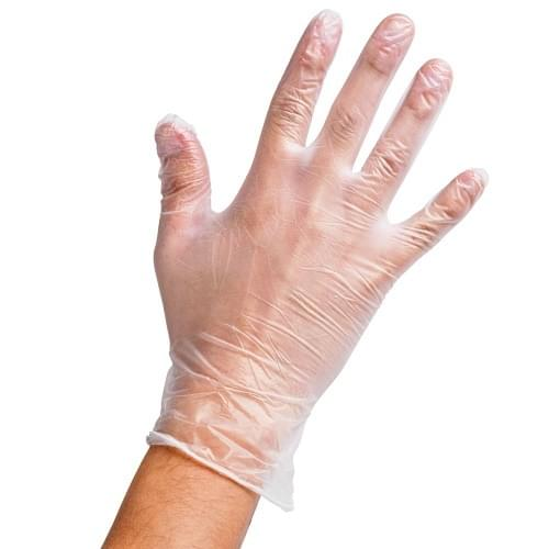 Clear Vinyl Gloves (Small) 100 x Examination Gloves