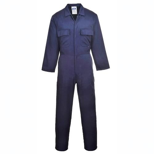 Heavy Duty Mens Boiler Suit Navy Blue Polycotton Coverall (XXL)