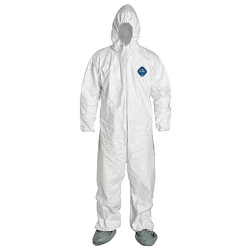 Tyvek Hooded Coverall Disposable SMS Fabric (XXL)