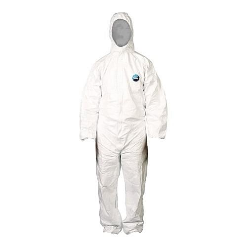 Tyvek Hooded Coverall Disposable SMS Fabric (Large)