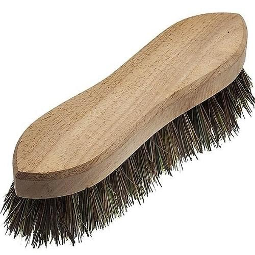 Deck Scrubbing Brush with Stiff Bristles  9""