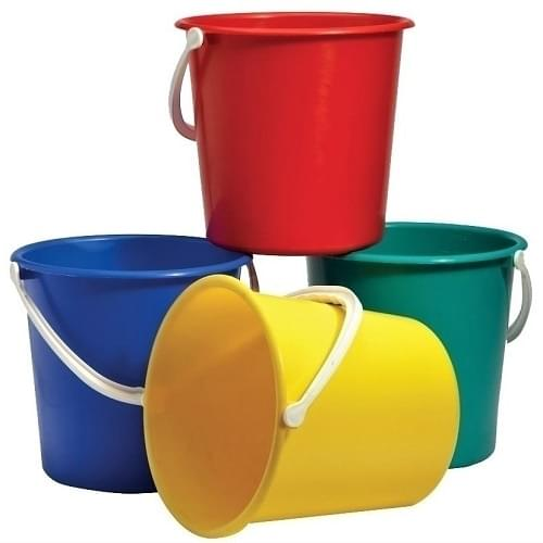 Plastic Bucket Assorted Colours  9 litre