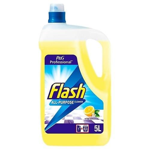 Flash Washroom Cleaner/Disinfectant Lemon  5ltr