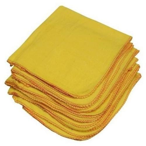 Yellow Cloth Dusters  350x500mm  10/pack
