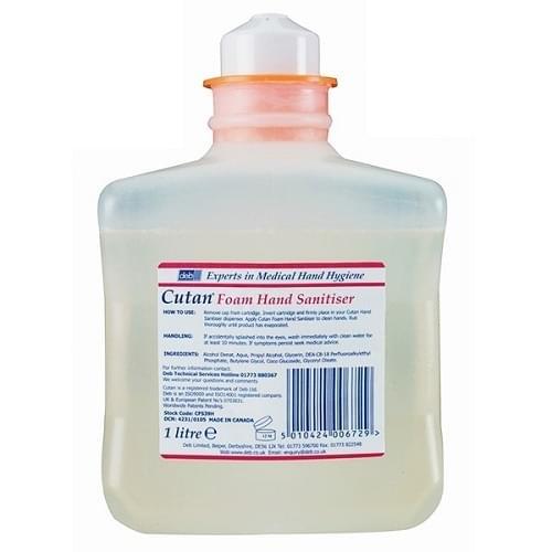 Cutan Foam Hand Sanitiser  6x1ltr/box