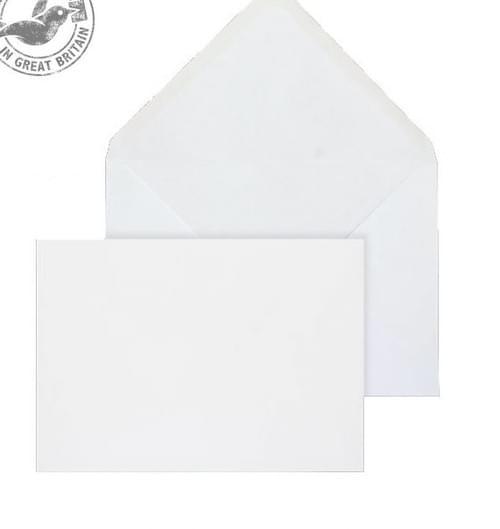 Envelope 127 x 190mm White Diamond Flap Gummed 90gsm Box 1000