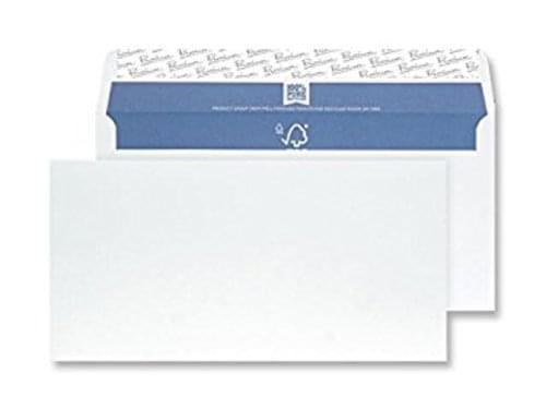 Envelope DL White Plain 120gsm Box 500