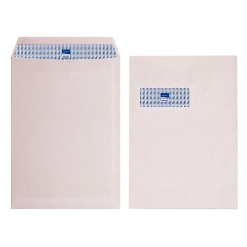 Envelope C4 324x229mm White Window Self Seal 90gsm Box 250