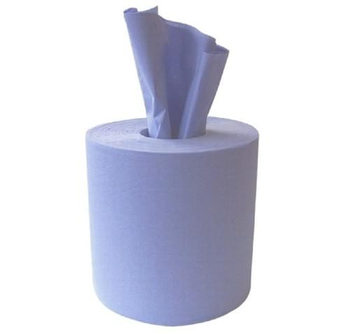 Contract Centrefeed Roll 2ply Blue 150m  6/pack