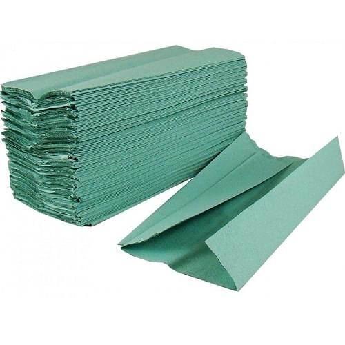 Contract Handtowel C-Fold 1 ply Green  230x310mm