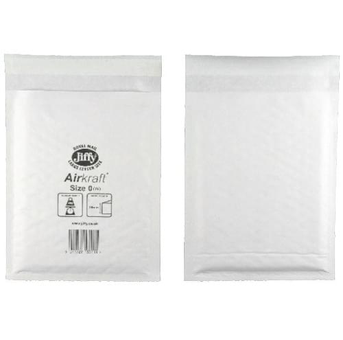 Jiffy Bag Bubble Lined Airkraft White 140 x 195mm