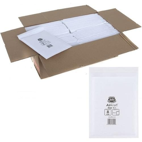 Jiffy Bag Bubble Lined Airkraft White 170 x 245mm
