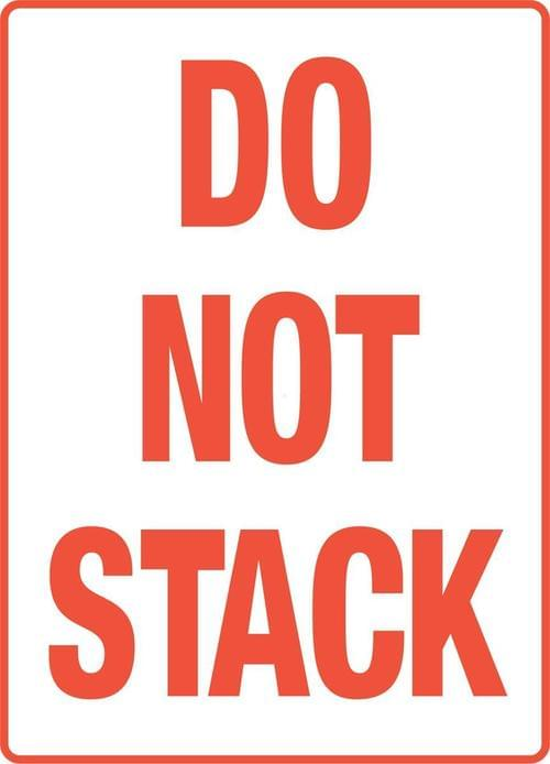 Do Not Stack Packaging Labels (108x79mm) 500 per roll