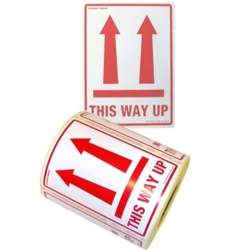This Way Up Labels  108x79mm  500 per roll
