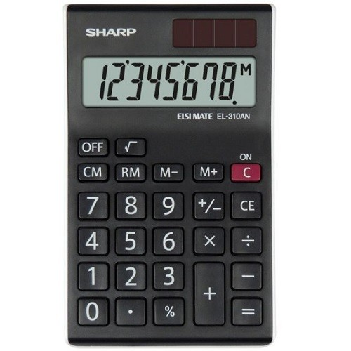 Desktop Calculator 8 Digit Angled Display