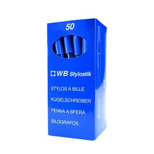 Blue Medium Ballpoint Pens (Pack of 50)