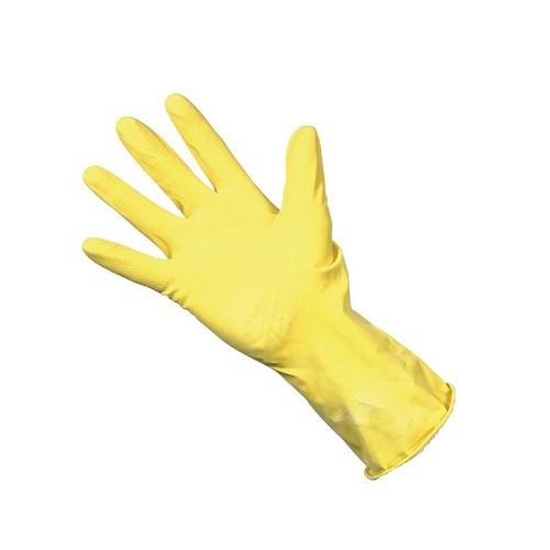 Rubber Glove Yellow Medium (Pack of 12 pairs)