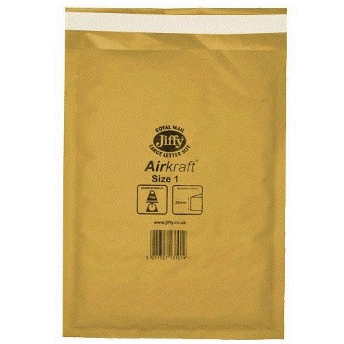 "Jiffy Airkraft Gold Size 000 90x145mm (3.5x5.7"") 150/box"