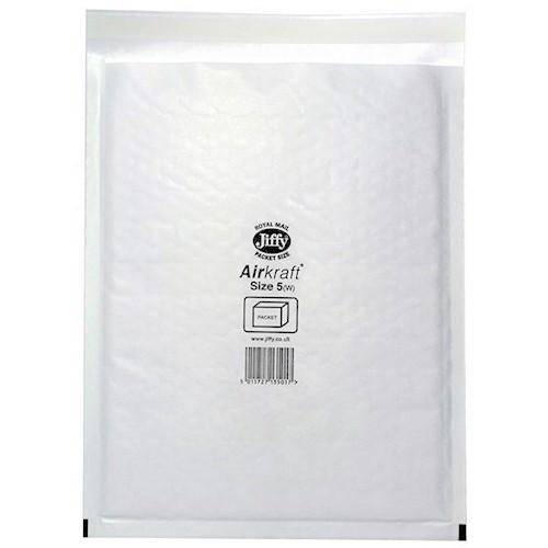 "JL5 Jiffy Bags Airkraft White Size 5 260x345mm (10.2x13.6"") 50/box"