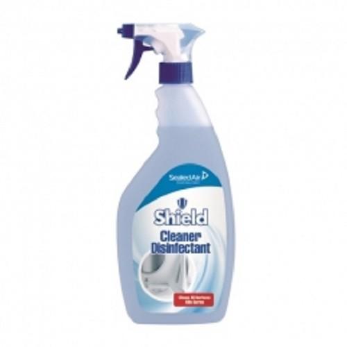 Shield Cleaner Disinfectant - 6 x 750 ml trigger bottles