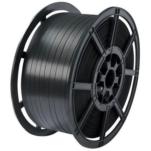 Black Polypropylene Strapping Reel w/ Plastic Core  (12mmx1500m)
