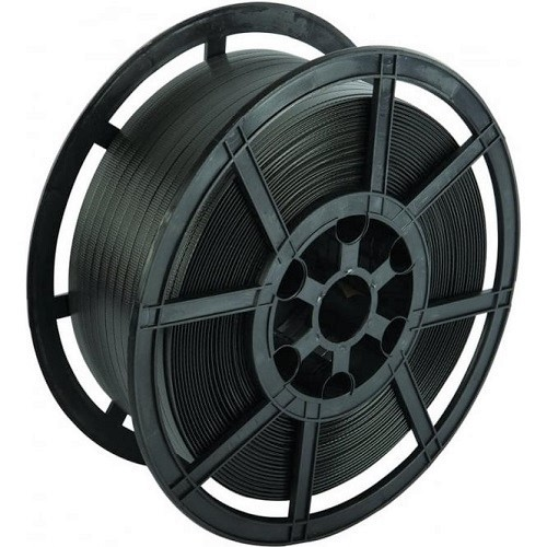 Black Polypropylene Strapping Reel w/ Plastic Core (12mmx1000m)