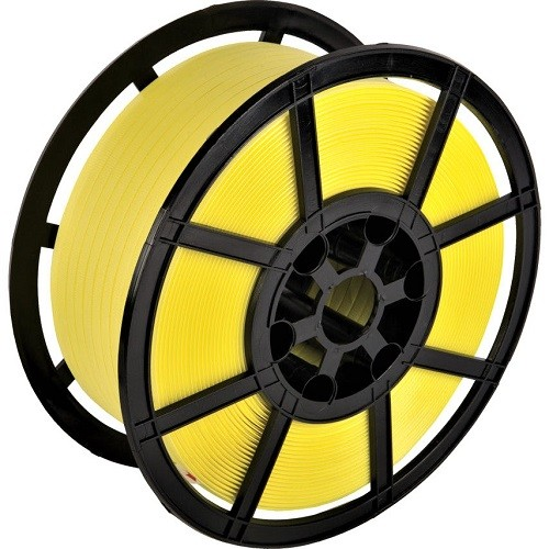 Yellow Polypropylene Strapping Reel w/ Plastic Core (12mmx1000m)
