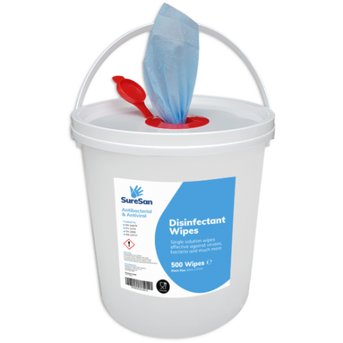 Disinfectant Antiviral Surface Wipe Tub of 500 Wipes