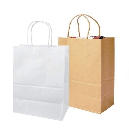 Brown & White Paper Bags - Twist Handle | Eco-Friendly Carrier Bags