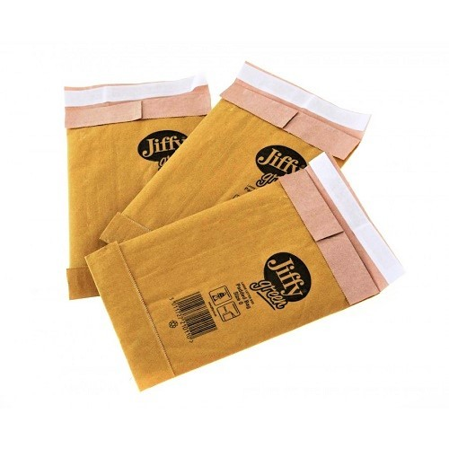 "Jiffy Padded Gold Postal Bag Size 0 135x229mm (5.3x9"") 200/box"