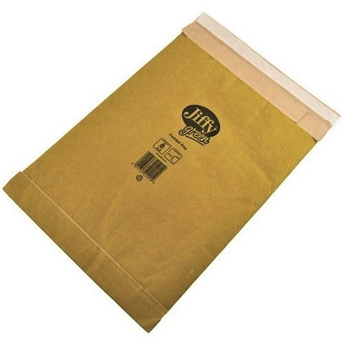 "Jiffy Padded Gold Postal Bag Size 4 225x343mm (8.9x13.5"") 100/box"