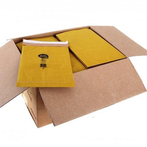 "PB5 Jiffy Padded Gold Postal Bag Size 5 245x381mm (9.6x15"") 100/box"