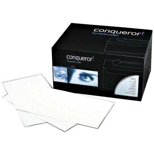 Envelope Conqueror Wove DL Diamond White Window Box 500