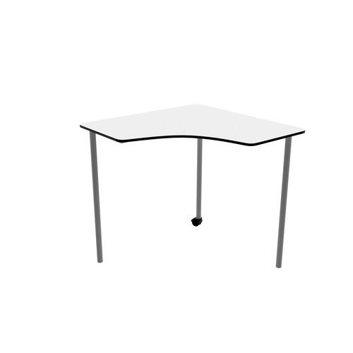 Titan Link Table - Corner White/Silver   Classroom Tables
