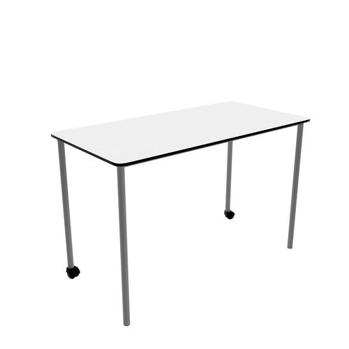 Titan Link Table- Rectangular White/Silver   Classroom Tables