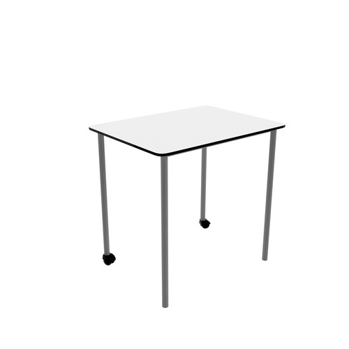 Titan Link Table - Square White/Silver   Classroom Tables