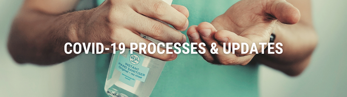 Covid Processes and updates Banner