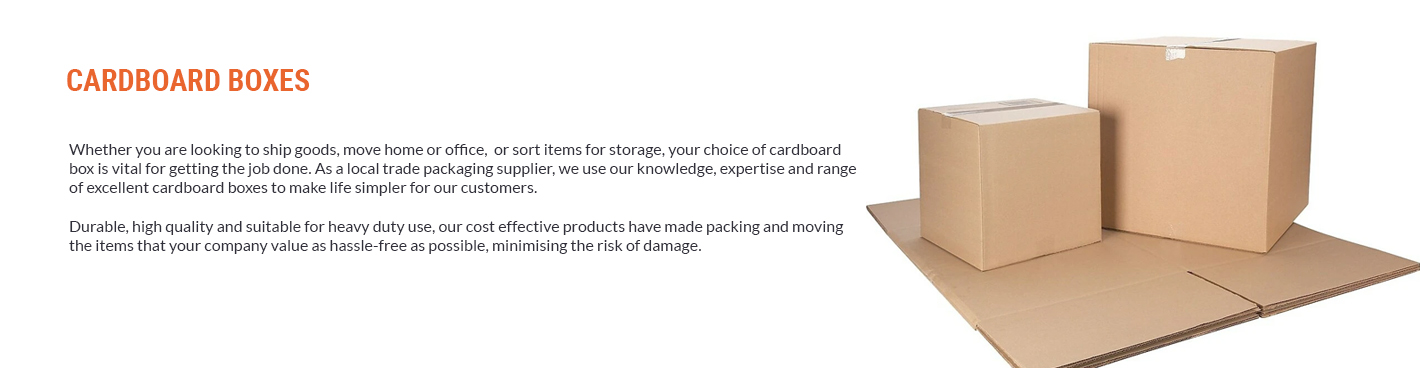 Carboard Boxes Banner Category Page