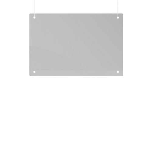 Ceiling Suspension Protection Screen, Acrylic, 80 x 65 cm