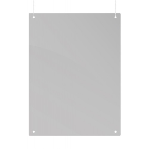 Ceiling Suspension Protection Screen, Acrylic, 120 x 90 cm