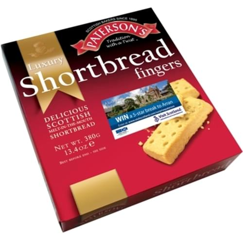 Patersons Luxury Traditional Scottish Shorbread Fingers 380g