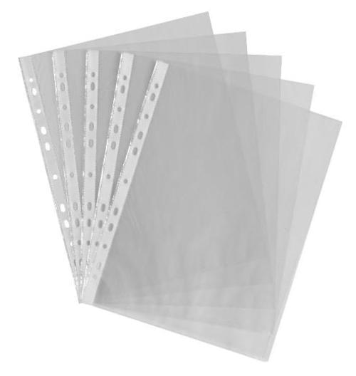 A4 CLEAR POCKET Multi-Punched Pack 100
