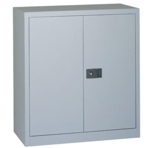 40 inch Bisley Contract 2-Door Cupboard Grey