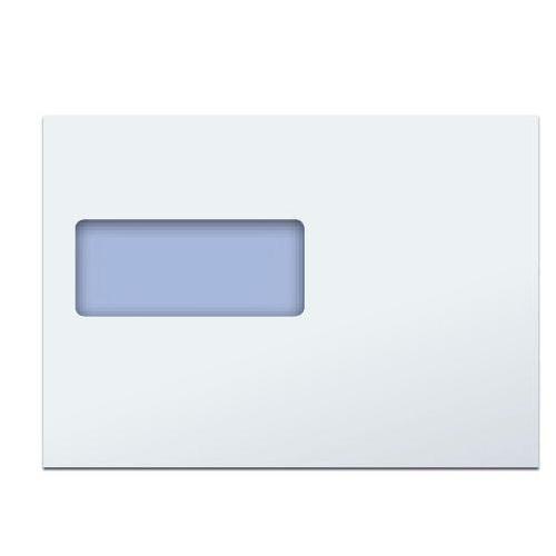 C5 White PREMIUM 100gsm White Window Envelopes Bx500 Peel and Seal